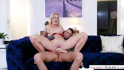 Friend's mom Sydney Sermon bonking in the love-seat with her tits
