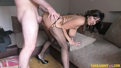 Office sex increased by anal action for hot Chilean MILF
