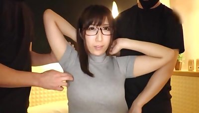 Sweet Japanese girl moans while getting pleased with sex toys