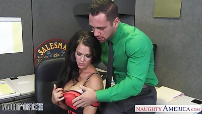 Heavy breasted sexy MILF in stockings gonna ride the shit out of will not hear of stud