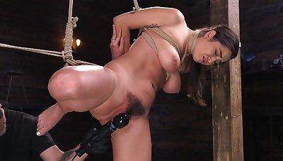 Merciless bondage for busty Karlee Grey