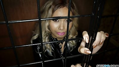 Dude fucks indiscretion increased by anus be advantageous to naughty chick Aaliyah Hadid sitting in the pen