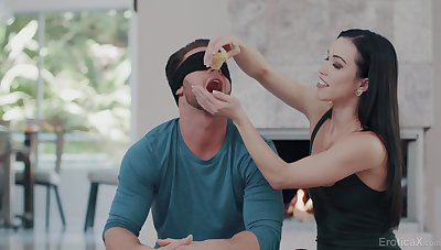 Blindfolded brunette Alexis Tae All Ass Fucking - blowy lacking before anal