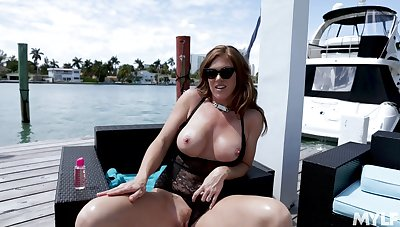 Thick thighed MILF with huge tits Ivy Secret loves to realize fucked doggy style