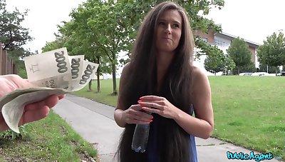 Gutsy girl Lara Fox fucks a stranger in public for money