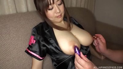Sayo Takechi gets her knockers licked and her pussy fucked deep