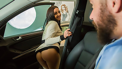 Audrey Bitoni lets will not hear of husband's employee test drive will not hear of pussy!!