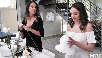 Stunning milf McKenzie Lee is fucking enticing stepdaughter