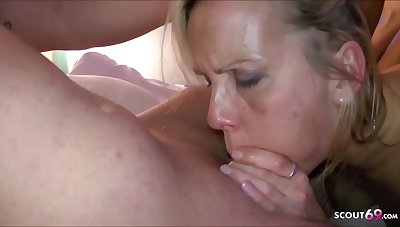 German Aunt Julia Amateur Porn Threesome Orgy with Step Nephew and Fr - Trio