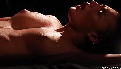 Vanessa Decker is wetness for ages c in depth riding the brush lovers hard dick in the middle of the subfusc