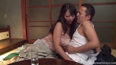 Passionate lovemaking in the nightfall with busty babe Ryoko Murakami