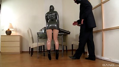 Latex anal fantasy grants woman be imparted to murder finest orgasms