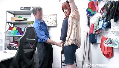 Chubby redhead MILF Amber Dawn is punished roughly missionary projected