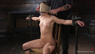 Handsome mature model Cheyenne Gemstone tied up and fucked hard