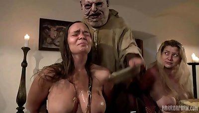 Fat BBW MILF in euro barbarity movie - fetish group sex hardcore