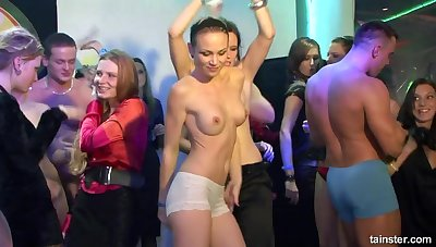 Busty Czech babes partying & fucking in Score Sex Orgy - Chubby titties & Chubby cocks