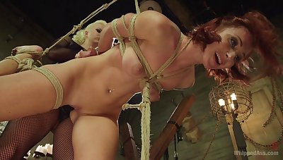 pain and pleasure turns on horny lesbians Cherry Torn and Sophia Locke
