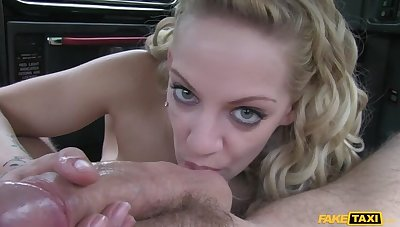 Cabbie Persuades Lord it over Blonde To Let Him Fill Her With His Cock