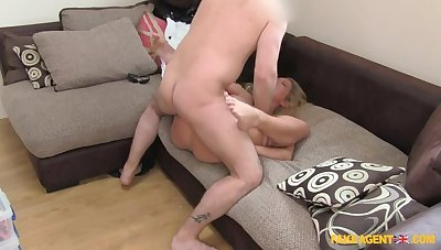 Young Blonde BabeGives Up On Her Modeling Dreams To Swell up Cock